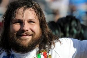 Martin Castrogiovanni, pilone della Nazionale Rugby italiana 2012.