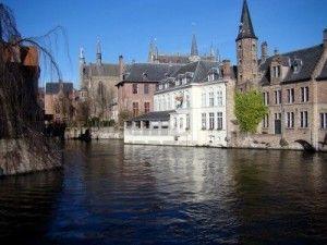 Canal Scene Bruges Belgio