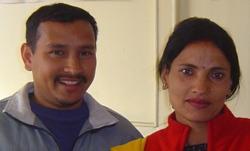 Ramesh e Sarala Lamichhane.