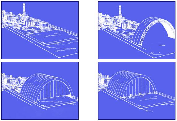 Il processo di assemblaggio e le modalità di scorrimento dell'arco.