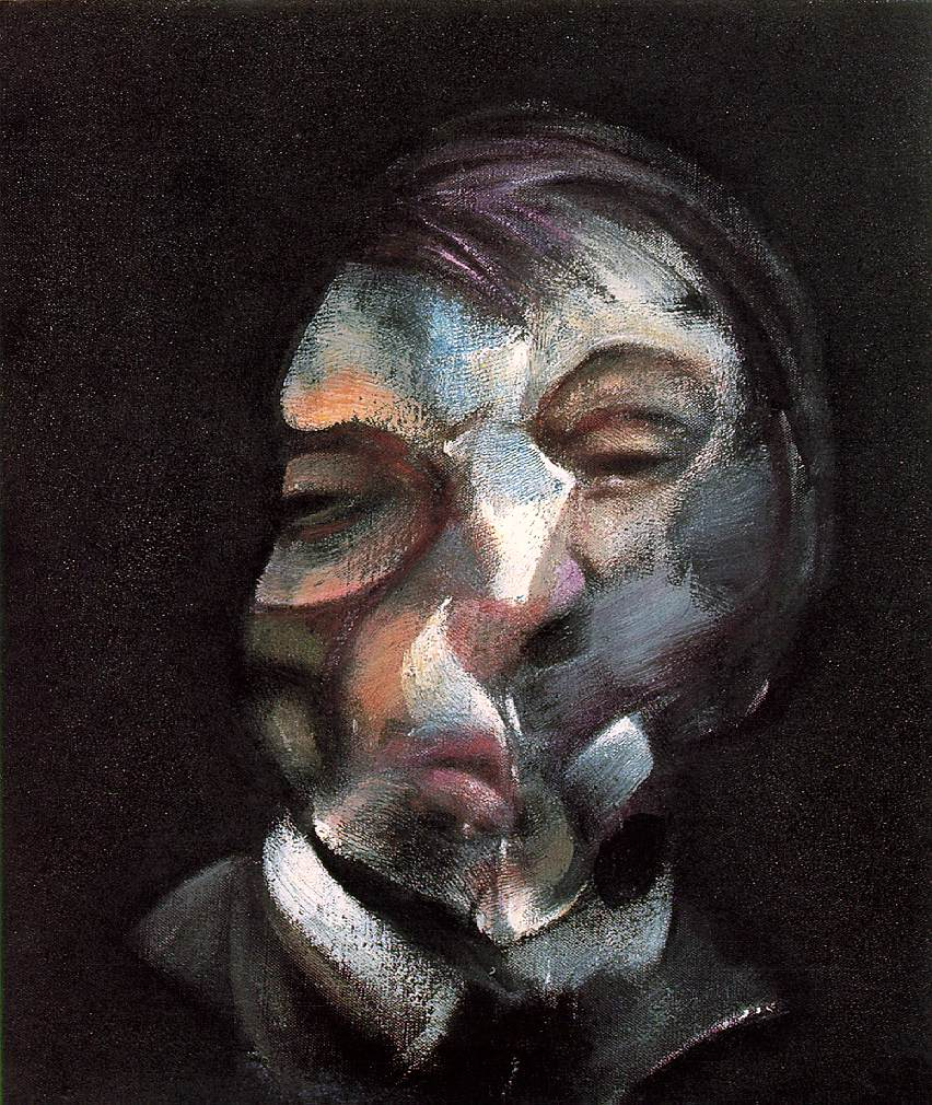 "Francis Bacon (1909, Dublin - 1992, Madrid), ""Autoritratto"" / ""Self-Portrait"", 1971, Olio su tela / Oil on canvas, 35.5 x 30.5 cm, Musée National d'Art Moderne, Centre Georges Pompidou, Paris."