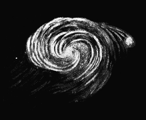 Disegno della Galassia Vortice di Lord Rosse (1845)