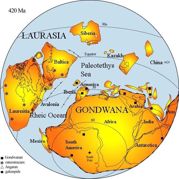 supercontinente Gondwana