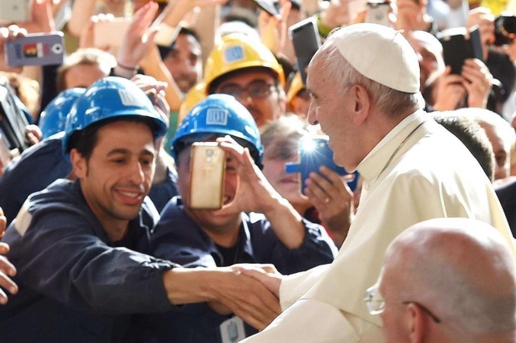 Papa-Fracesco ai sindacati