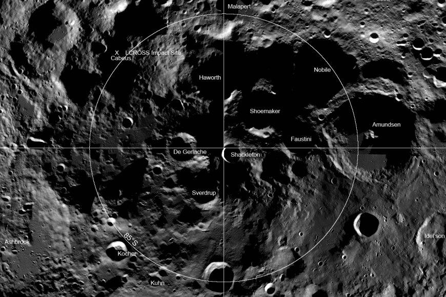 cratere lunare di Shackleton