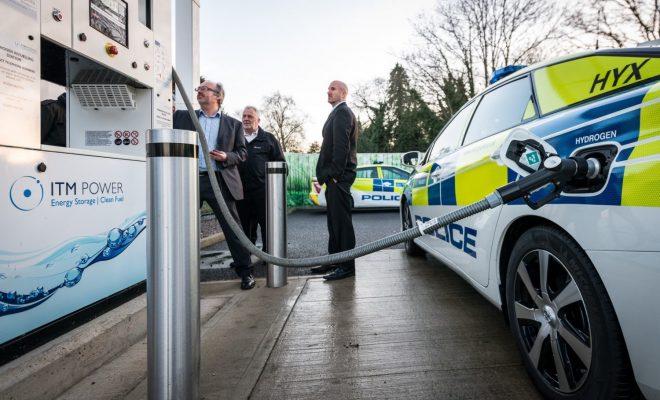 Auto idrogeno polizia