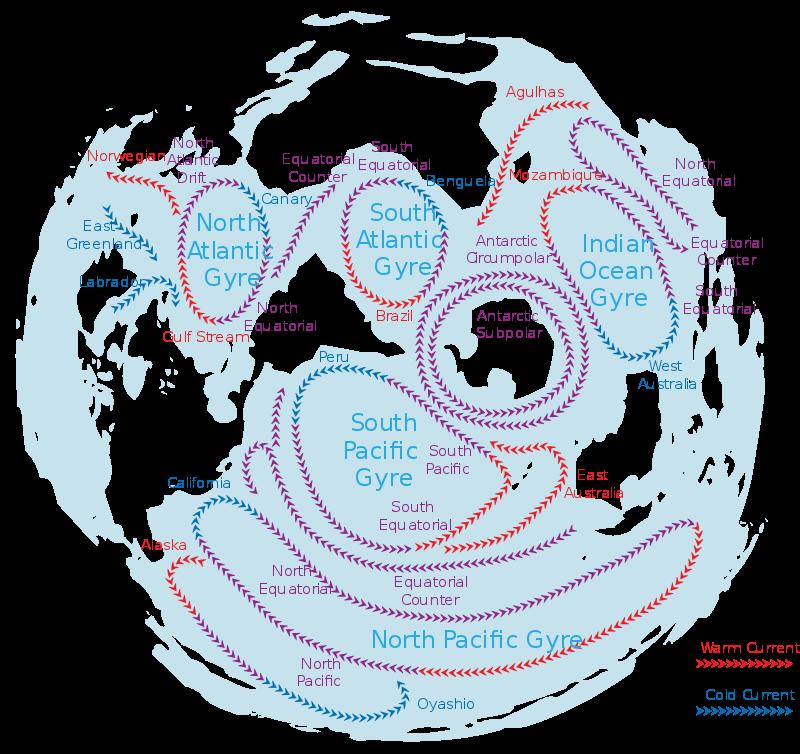 mappa corrente e isole plastica