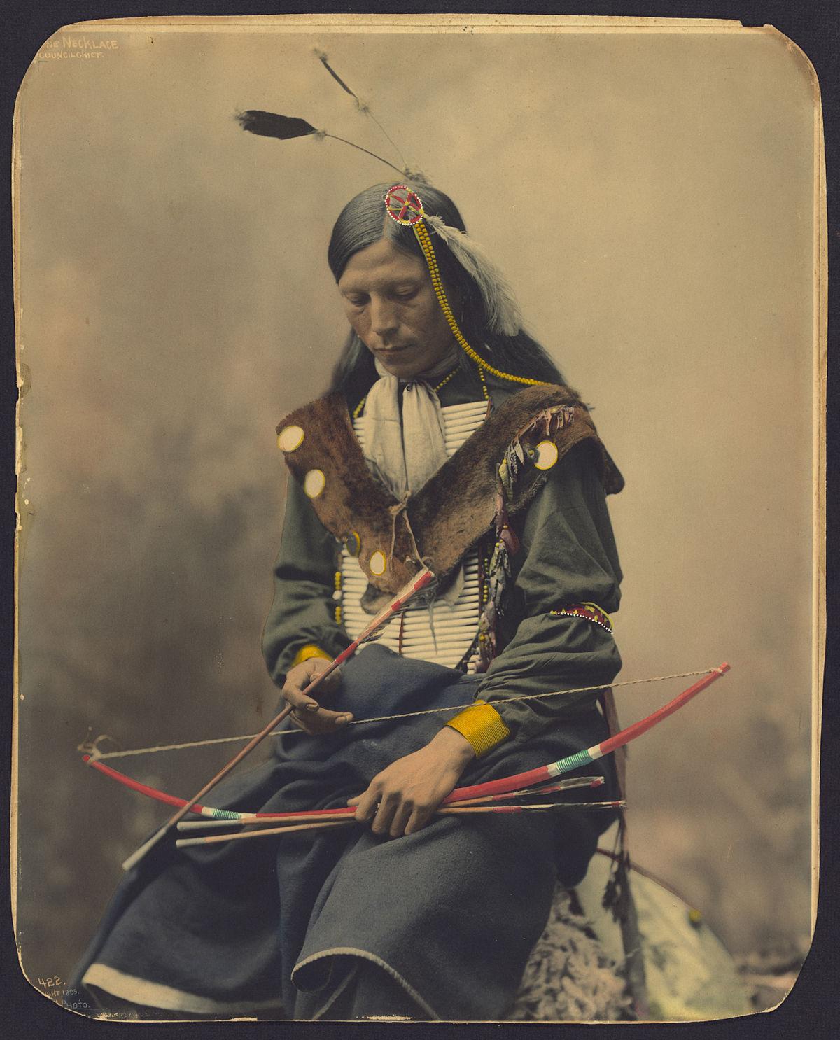 Chief Bone Necklace Oglala Lakota, 1899